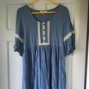 Altar'd State/ Umgee Babydoll Mini Dress
